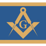 Square and Compasses Emblem with letter G