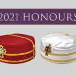 """Caps of the 32°, KCCH & 33°, IGH, with the title """"2021 Honours"""""""