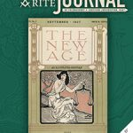 """Revisiting the New Age: Two articles explore the earlier days of what would become the Scottish Rite Journal. Cover of the September 1907 New Age magazine, featuring an Art Nouveau rendering of Libra, the """"scales"""""""